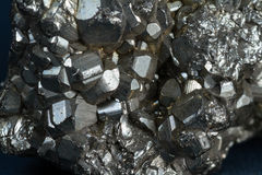 Iron pyrite or fools gold Stock Image