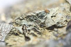 Iron pyrite, is an iron sulfide with the chemical formula FeS2 Royalty Free Stock Images