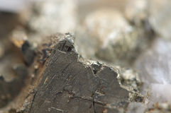 Iron pyrite, is an iron sulfide with the chemical formula FeS2 Stock Photography
