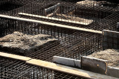 Iron rack for concrete pouring on construction site Stock Photography