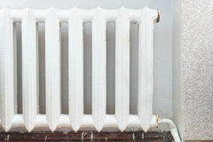 Iron radiator of water heating in home Royalty Free Stock Photography