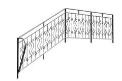 Iron  railing. Iron  banisters, railing. Isolated over white background Stock Photo