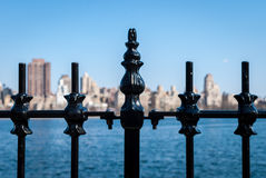 Iron railing skyline Royalty Free Stock Photography