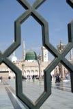Iron railings behind the Nabawi Mosque, Medina, Saudi Arabia Stock Photography