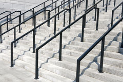 Iron railings with stone steps Stock Photography