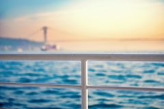 Iron railings of tour boat. In istanbul of Turkey Royalty Free Stock Photo
