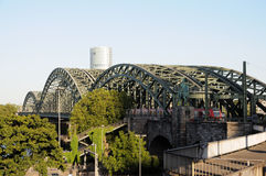 Iron railroad bridge Royalty Free Stock Photo