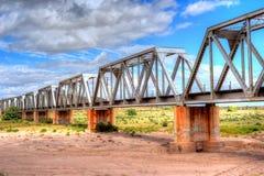 Iron railroad bridge Royalty Free Stock Images