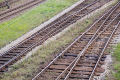 Iron Rails and sleepers Stock Image