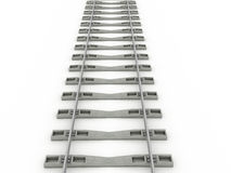 Iron rails on a white background. Raster. 2 Royalty Free Stock Photos