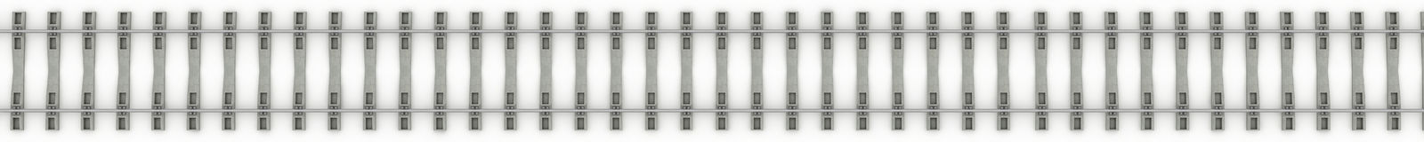 Iron rails on a white background. Raster. 4 Royalty Free Stock Images
