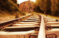 Iron railtrack Stock Photo