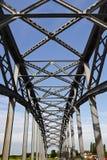 Iron railway bridge Royalty Free Stock Photos