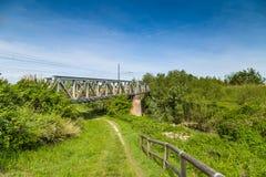 Iron railway bridge Royalty Free Stock Photo