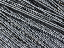 Iron reinforcement rods in the background Stock Image
