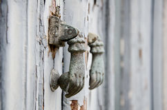 Iron ring knocker Stock Image