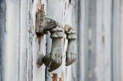 Iron ring knocker Stock Image