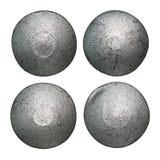 Rivet heads isolated. Iron rivet heads isolated on white Royalty Free Stock Photos