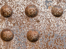 Iron rivets steel surface background texture Royalty Free Stock Images