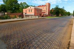 Iron road surface on Penkovy bridge Stock Photo
