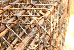 Iron rod armature for construction Royalty Free Stock Photography