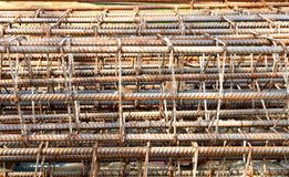Iron rod armature for construction Stock Images