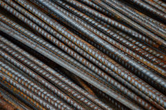 Iron rods. Detailed texture and pattern of iron rods background Royalty Free Stock Photo