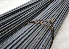 Iron rods close up. Close up of group of iron rods Royalty Free Stock Photo