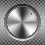 Iron round button. Raster 1 Stock Photos