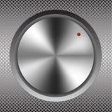 Iron round button. Raster 1 Stock Photos