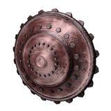Iron Round Shield Stock Photo
