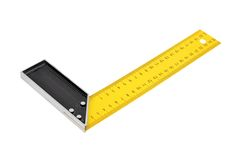 Iron ruler with angle bar Stock Images