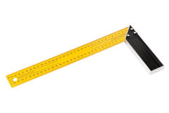 Iron Ruler with angle bar, set square Stock Photos