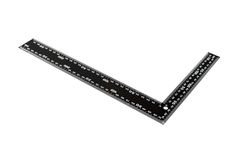 Iron ruler with angle bar Stock Photo