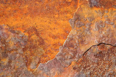 Iron with rust. Detail of an iron wall with rust Stock Image