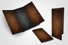 Iron rust blank flyer trifold Stock Images