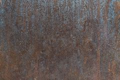 Iron rust texture. Iron rust metal texture, with old dent and stains royalty free stock photos