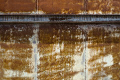 Iron Rusty background. Iron wall that rain has rusted Royalty Free Stock Photos