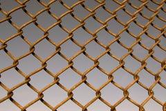 Iron rusty fence background Stock Image