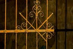Iron rusty vintage fence Royalty Free Stock Image