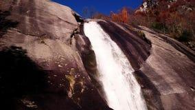 Iron's waterfall stock footage