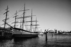 Iron sailing ship Royalty Free Stock Photography