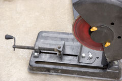 Iron saw. A single iron saw,it is used to saw metal things Stock Photo