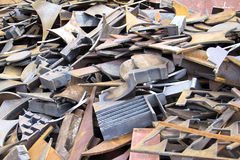 Iron scrap material Stock Photo