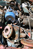 Iron scrap pollution Stock Photo