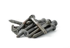 Iron screws Stock Images