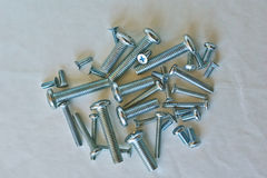 Iron screws for of metal structures. Stock Images