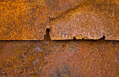 Iron sheet with rust. As background Stock Images