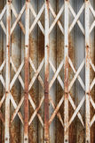 Iron slide door. Royalty Free Stock Photo
