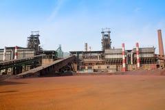 Iron smelting factory Royalty Free Stock Photo